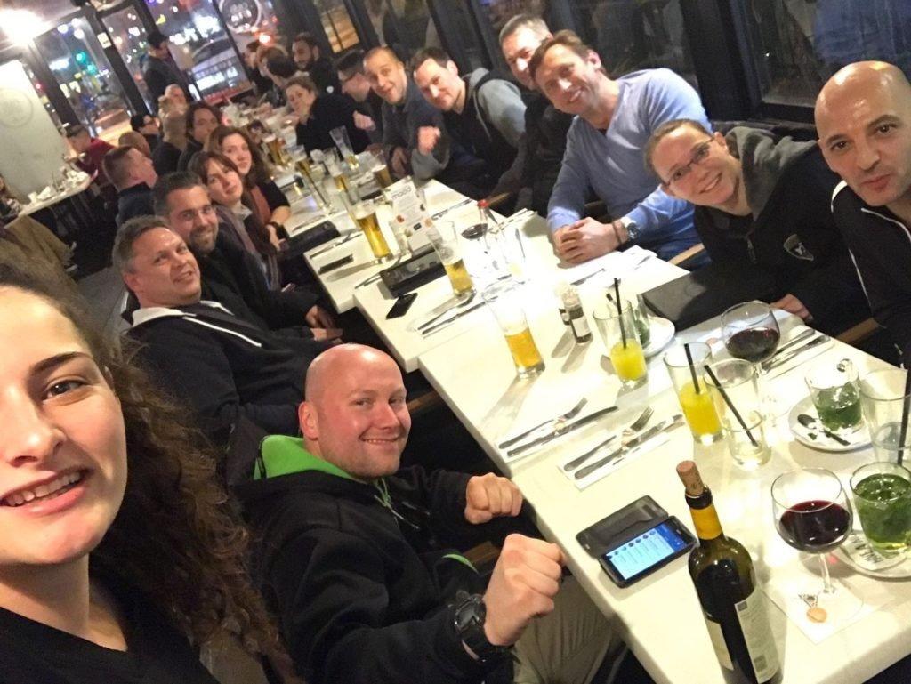 KRAVolution Team Train & KRAVel 2017 Israel - Abendessen