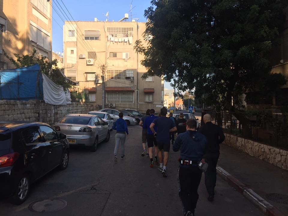 KRAVolution Team Train & KRAVel 2017 Israel - Jogging durch Haifa