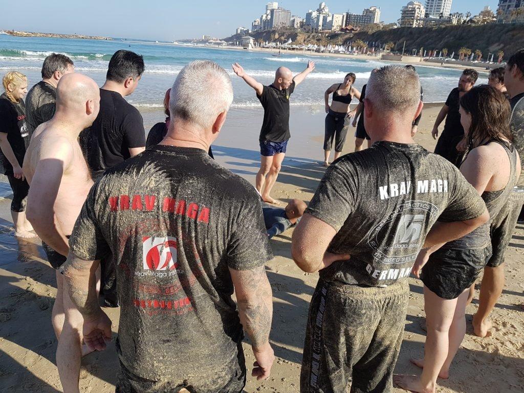 RAVolution Team Train & KRAVel 2017 Israel - Amnon at Beach