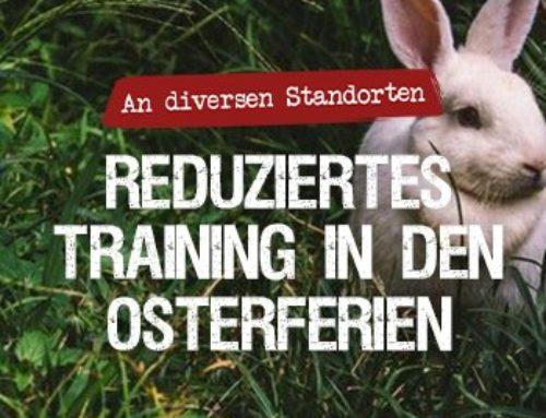 Reduziertes Training in den Osterferien