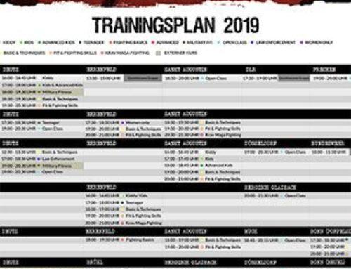 Neue Trainingszeiten und neues Trainingskonzept 2019