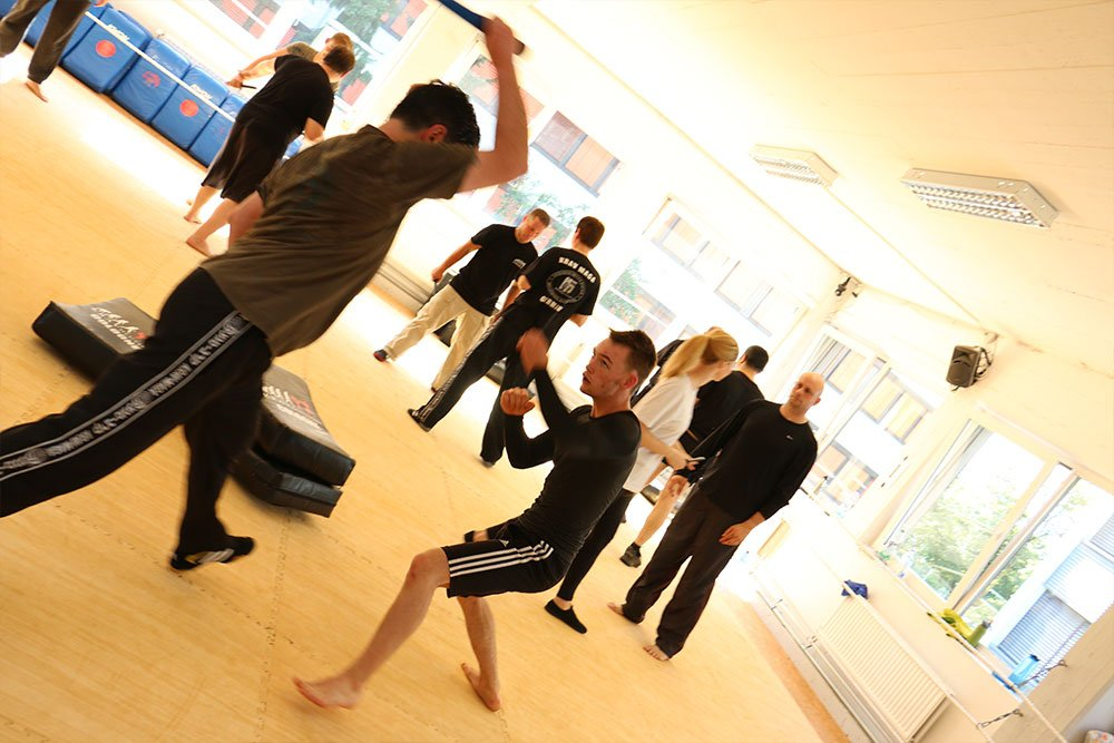 Krav Maga Teamevents in der Trainingshalle 3