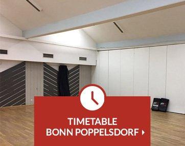 Timetable Krav Maga lessons Bonn Poppelsdorf