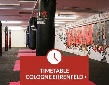 Timetable Krav Maga lessons Cologne Ehrenfeld
