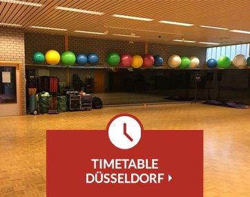 Timetable Krav Maga lessons Düsseldorf
