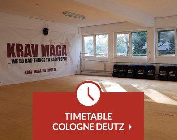 Timetable Krav Maga lessons Cologne Deutz