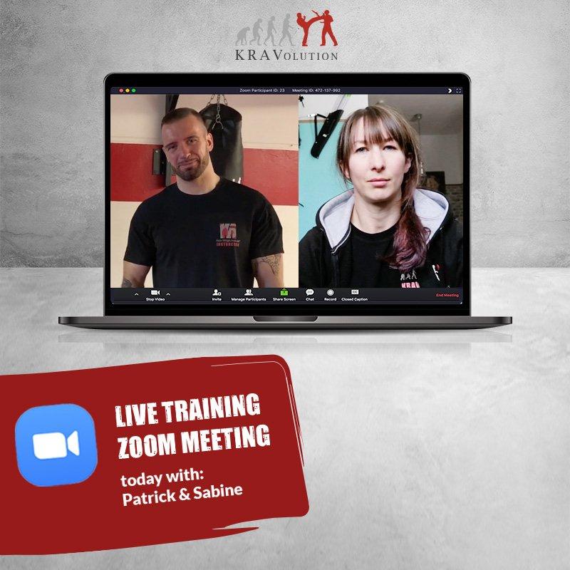 Live Krav Maga Training mit Patrick und Sabine