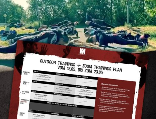 Outdoor Trainings & Zoom training plan for the week from 18. to 23.05.